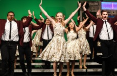 """The Good Time Company, West's varsity show choir, performs """"Carry On My Wayward Son"""" by Kansas at Liberty High on Wednesday, Jan. 9."""