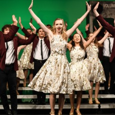 "The Good Time Company, West's varsity show choir, performs ""Carry On My Wayward Son"" by Kansas at Liberty High on Wednesday, Jan. 9."