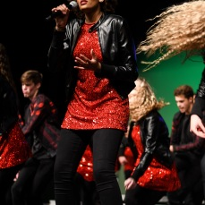 "Ahjianna Garcia Walker solos on ""I'll Be There"" by Chic with GTC at Liberty High on Wednesday, Jan. 9."