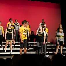 "City High's varsity show choir 4th Avenue performs ""Make a Wave"" by Demi Lovato, with Ingrid Streitz '19 and Ian Allen '21 as soloists."