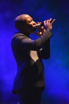 "Odom performs his own interpretation on the calypso tune ""Autumn Leaves"" at Hancher Auditorium."